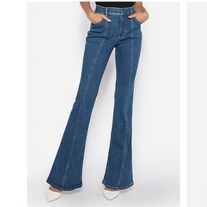 Express High Waisted Seamed Bell Flare Jeans 2 pet